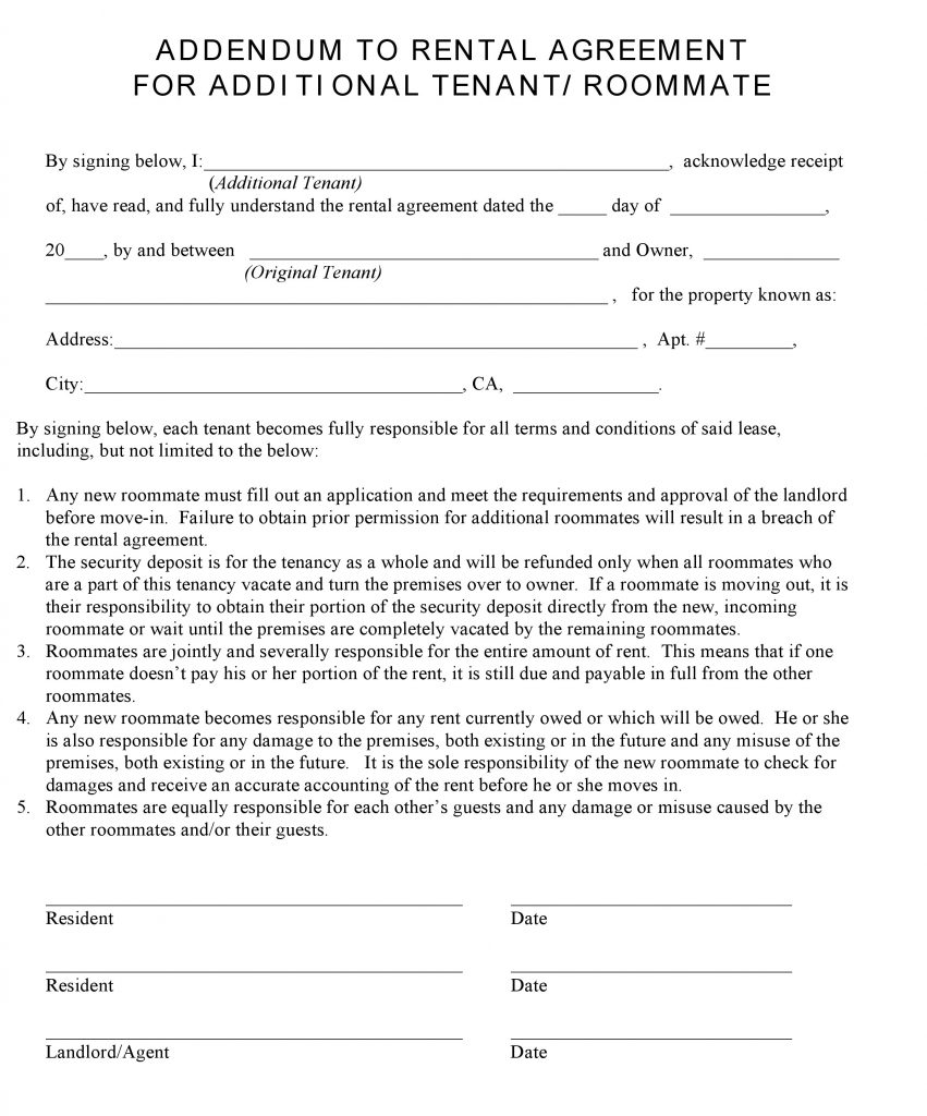 Free Illinois Standard Residential Lease Agreement Template Pdf