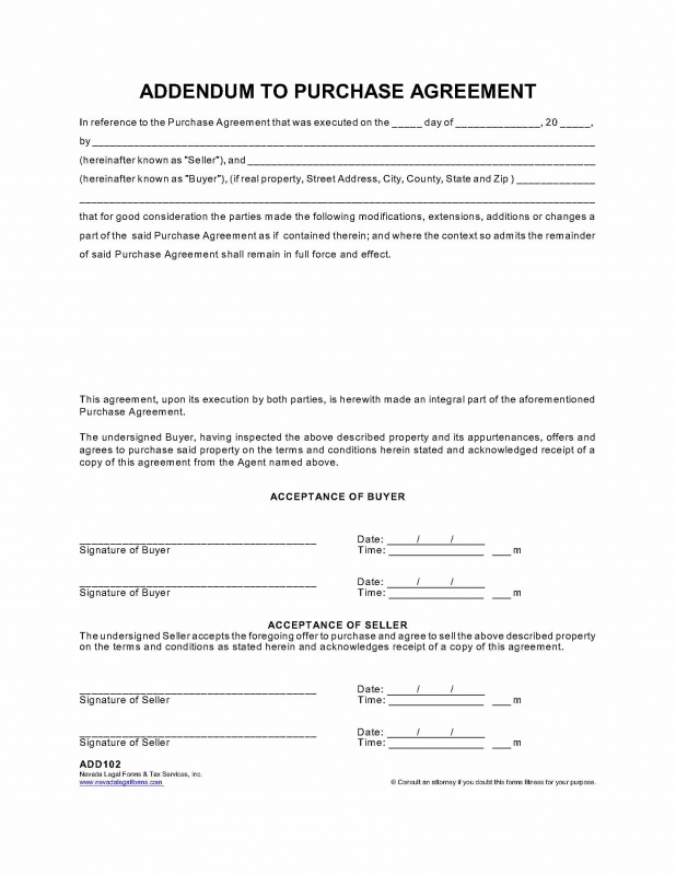 Blank Real Estate Contract Addendum Az Fill Online, Printable