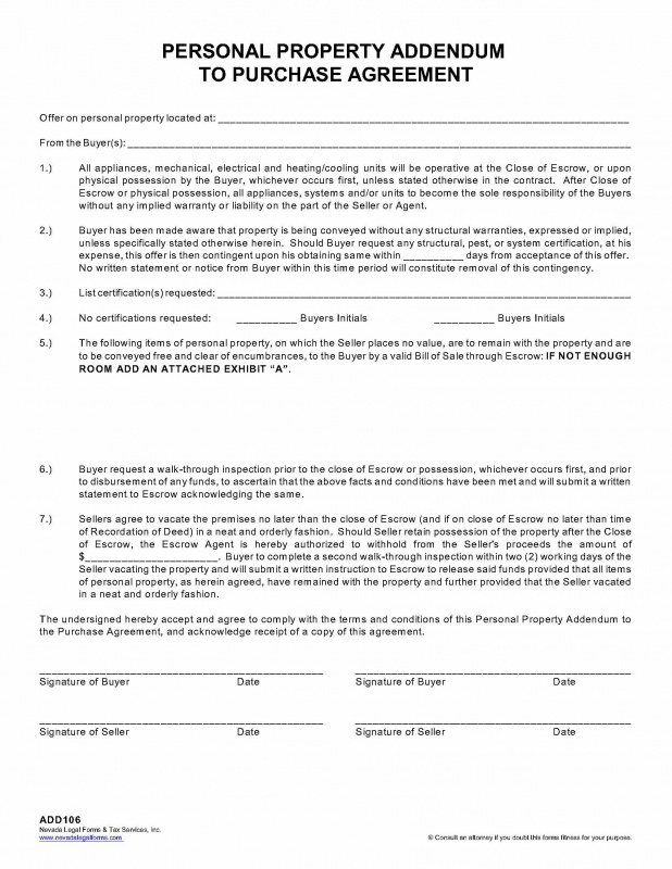 Bc Rental Agreement Addendum Form Lovely Contract Addendum Form