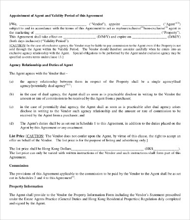 agency agreement template agent agreement template 9 free word pdf