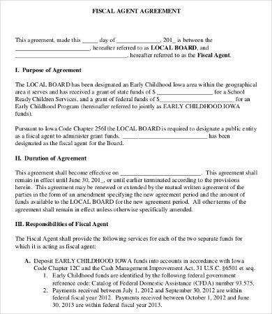 Agent Agreement Template 9+ Free Word, PDF Documents Download