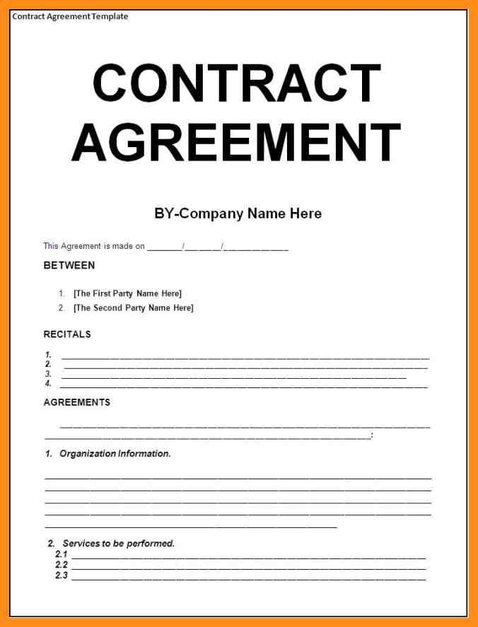 agreement between two parties template 9 sample agreement between