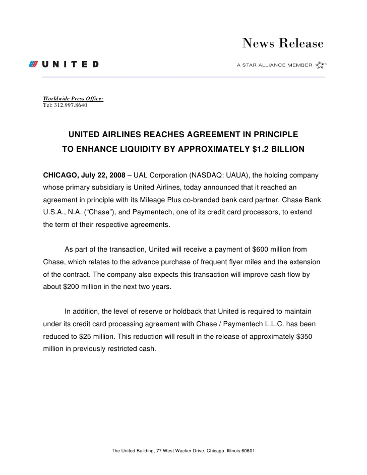 ual United Airlines Reaches Agreement in Principle to Enhance Liquid…