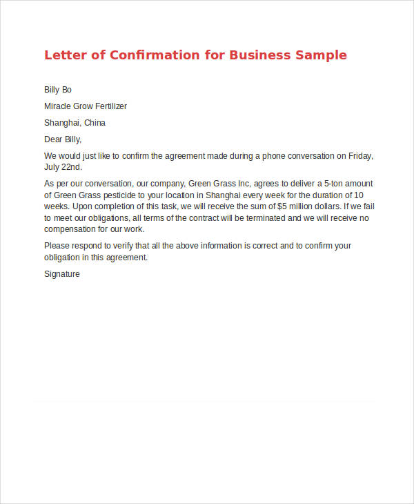 Agreement Letter Templates 11+ Free Sample, Example, Format