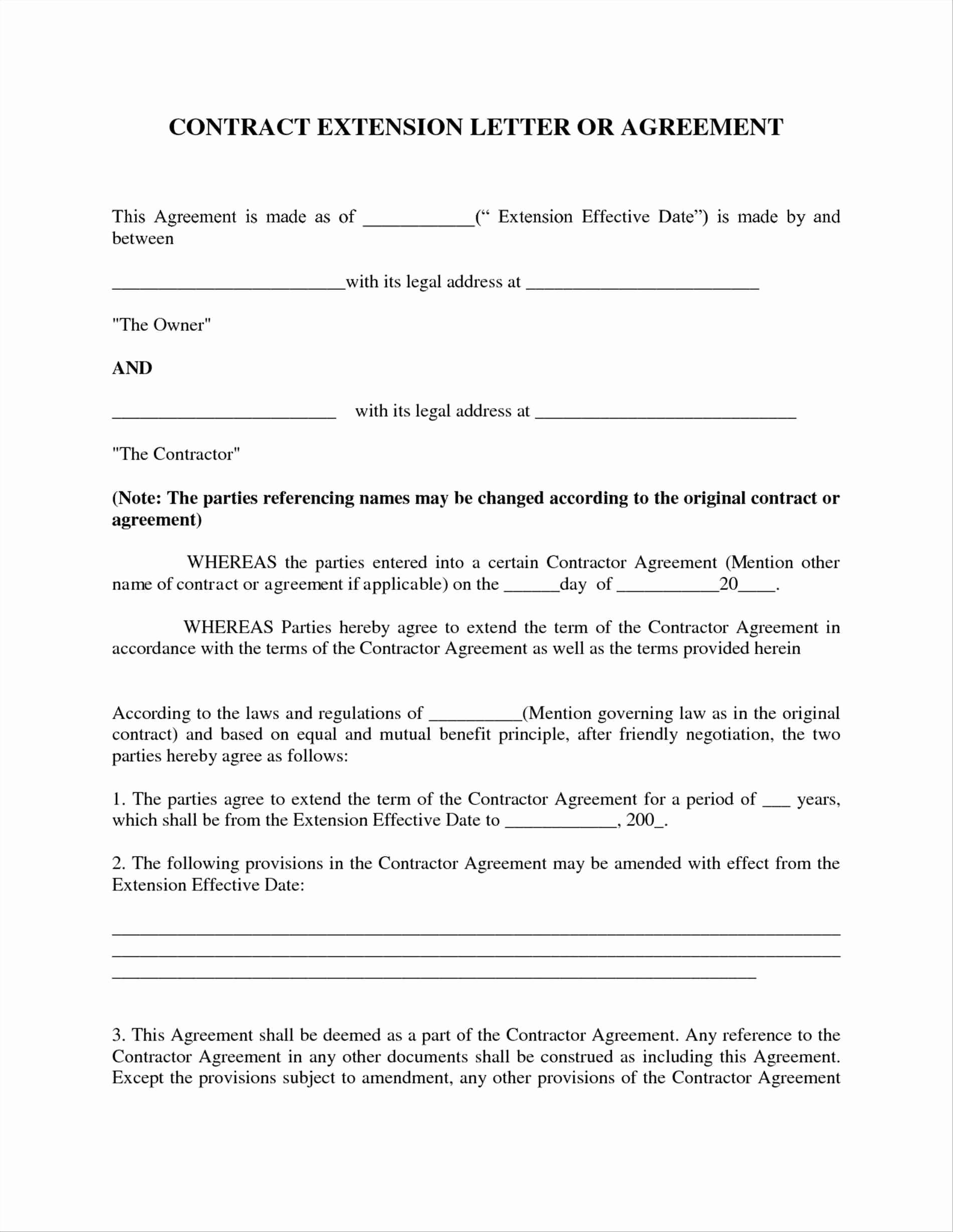 Agreement Letter Between Two Parties Sample 2 – cool green jobs