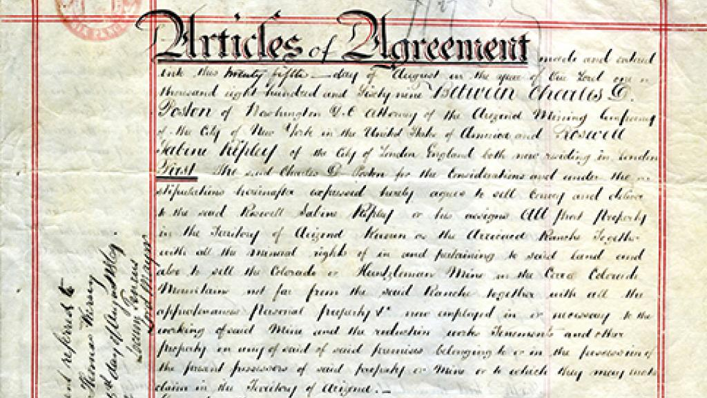 Articles of Agreement | Special Collections