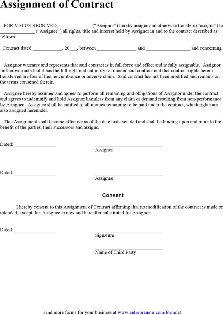 assignment agreement template assignment agreement template