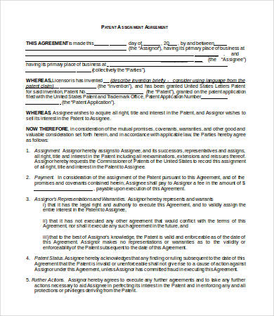 Assignment Agreement Template 9+ Free Word, PDF Format Download