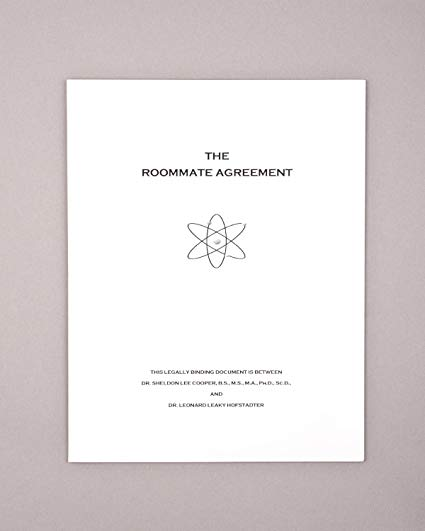 Amazon.com: The Roommate Agreement inspired by the Big Bang Theory