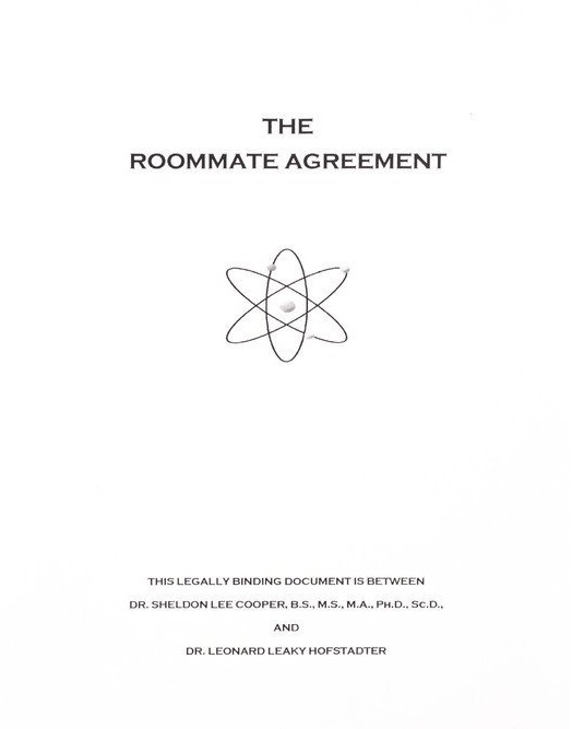 Roommate Agreement | The Big Bang Theory