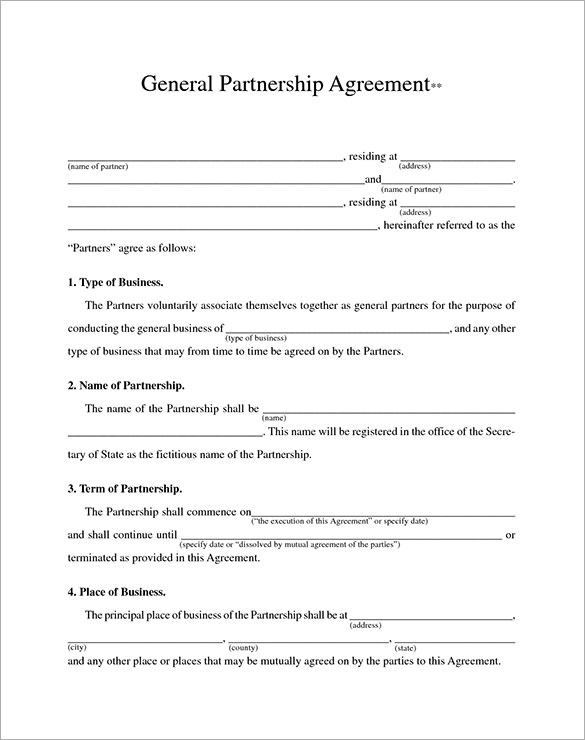 business agreement template doc business agreement template sample