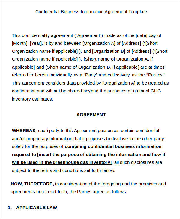business agreement templates 9 business agreement templates