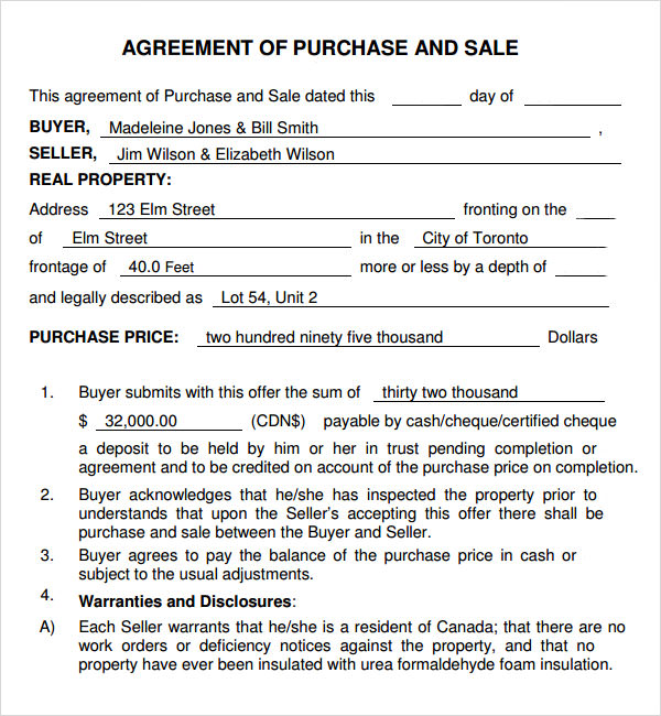 business to purchase   agreement form