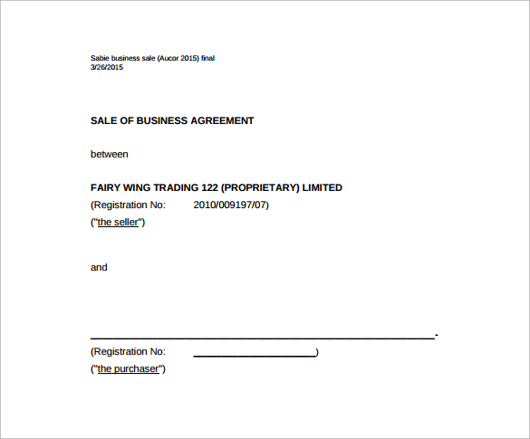 business sale agreement template free download business sale