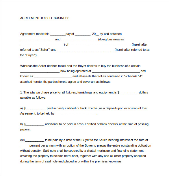 buy sell agreement template free download business sales agreement