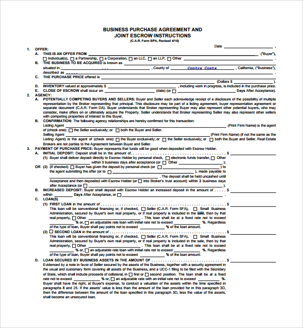 Business sales agreement gtld world congress business sale agreement pdf now is the time for you to know flashek Image collections
