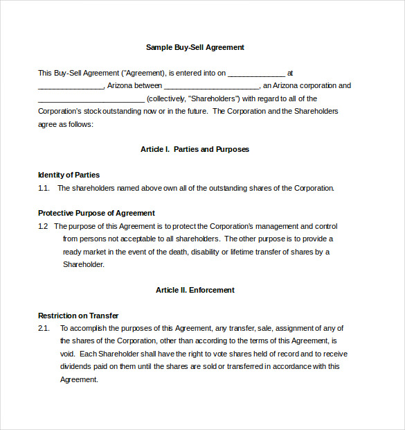 buy and sell agreements templates 20 buy sell agreement templates