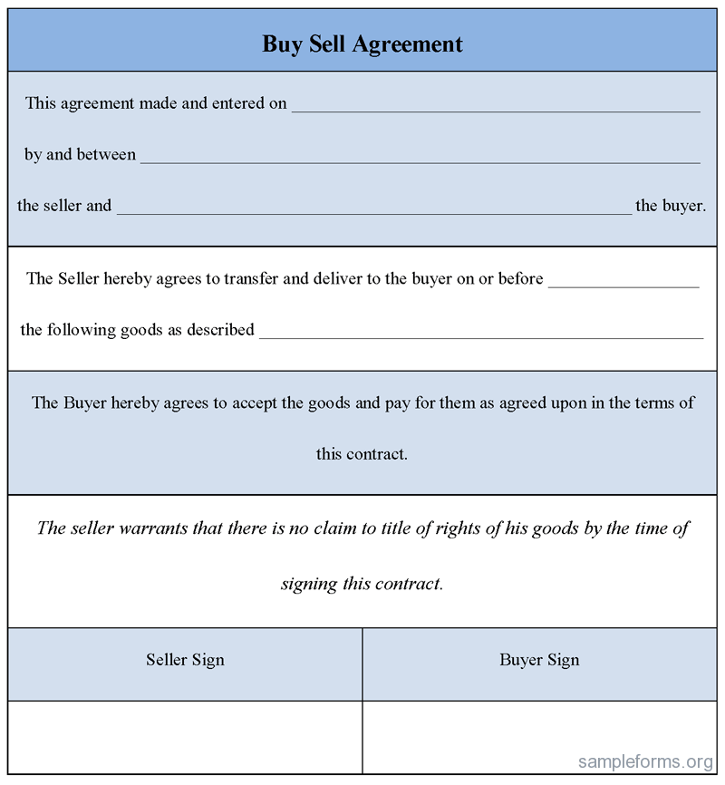 Sample Buy Sell Agreement Template 29 Images Of