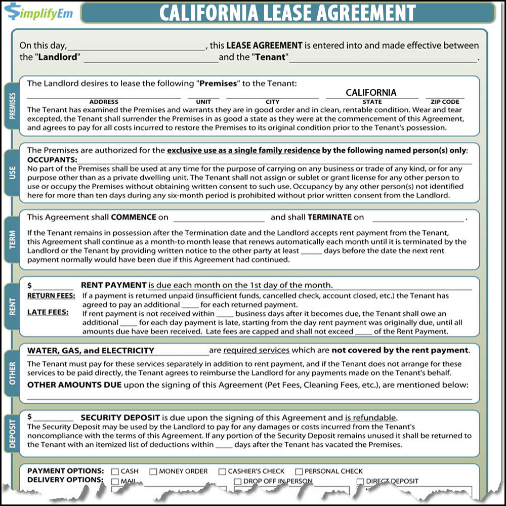House Lease Agreement California Pdf Topsimages