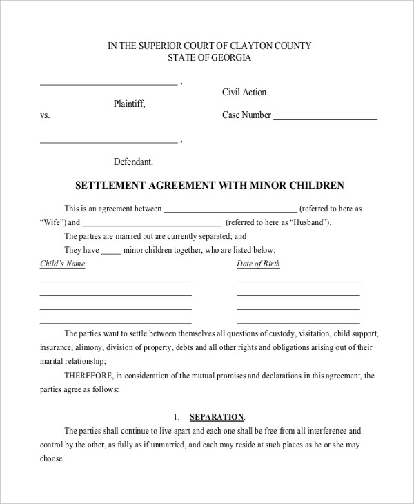 10+ Child Support Agreement Templates PDF, DOC | Free & Premium