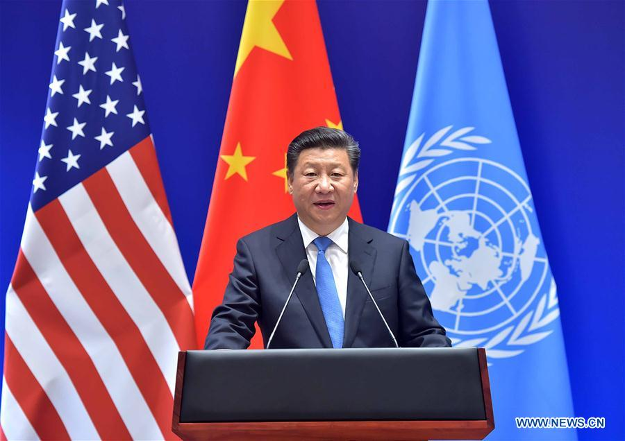 China, U.S. hand over instruments of joining Paris Agreement to