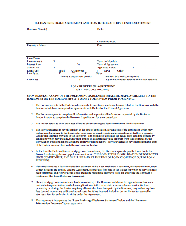 co broker agreement template sample business loan agreement 6 free