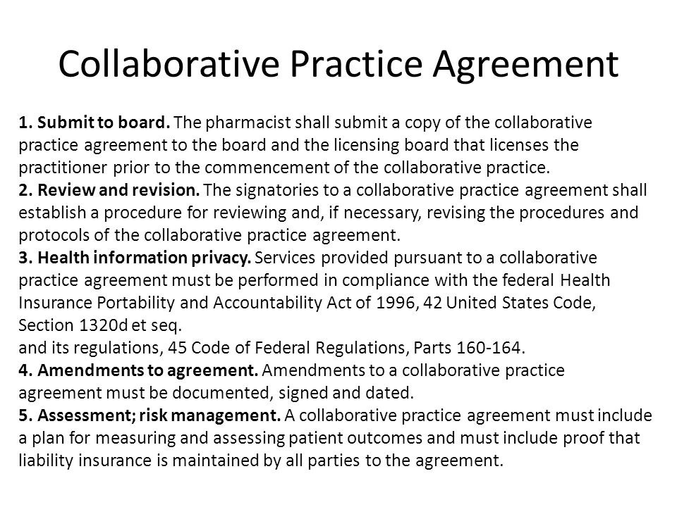 Collaborative Practice Agreement Gtld World Congress