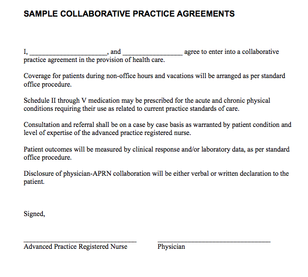 collaborative practice agreement template all about nurse