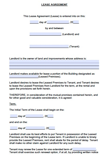Free Colorado Commercial Lease Agreement – PDF – Word