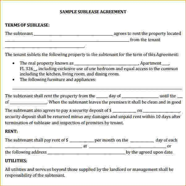 commercial sublease agreement template commercial sublease