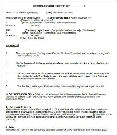 office sublease agreement template sublease agreement template