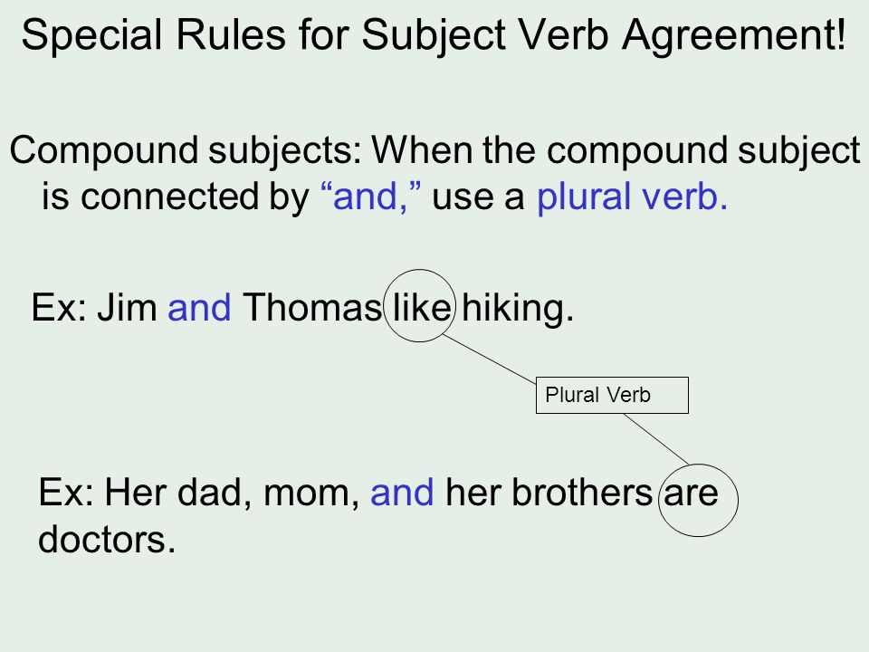 Compound Subject Verb Agreement Worksheet The best worksheets