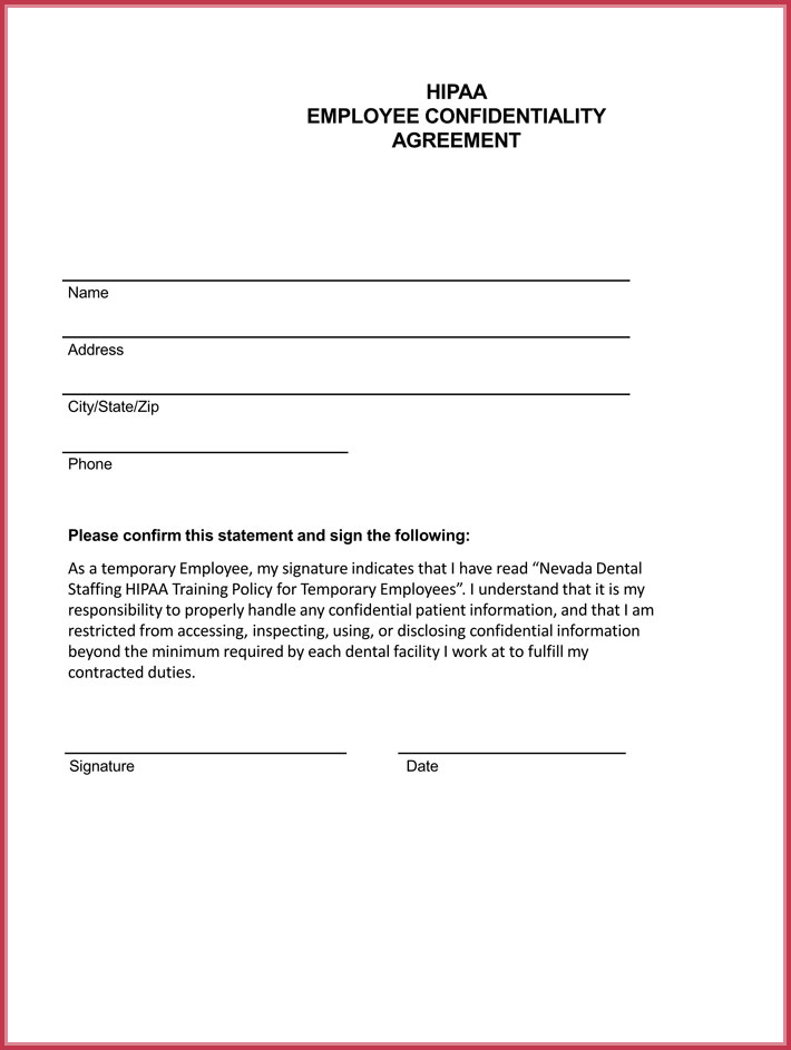 Employee Confidentiality Agreement 7+ Best Professional Samples