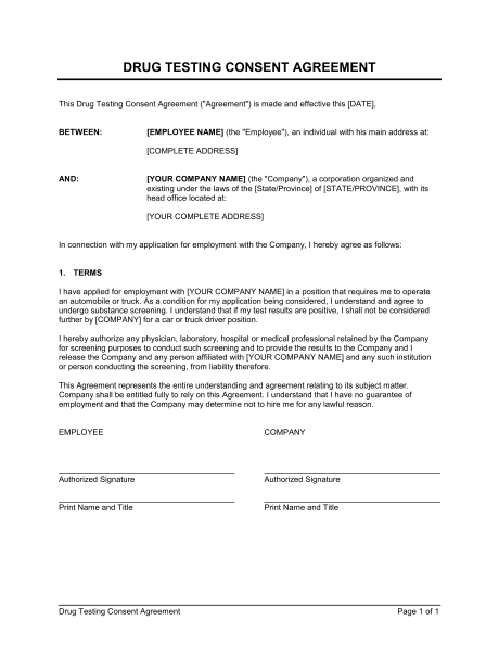 consent agreement template consent agreement template consent