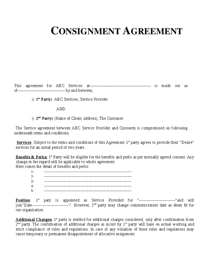 free consignment agreement template top 5 free consignment