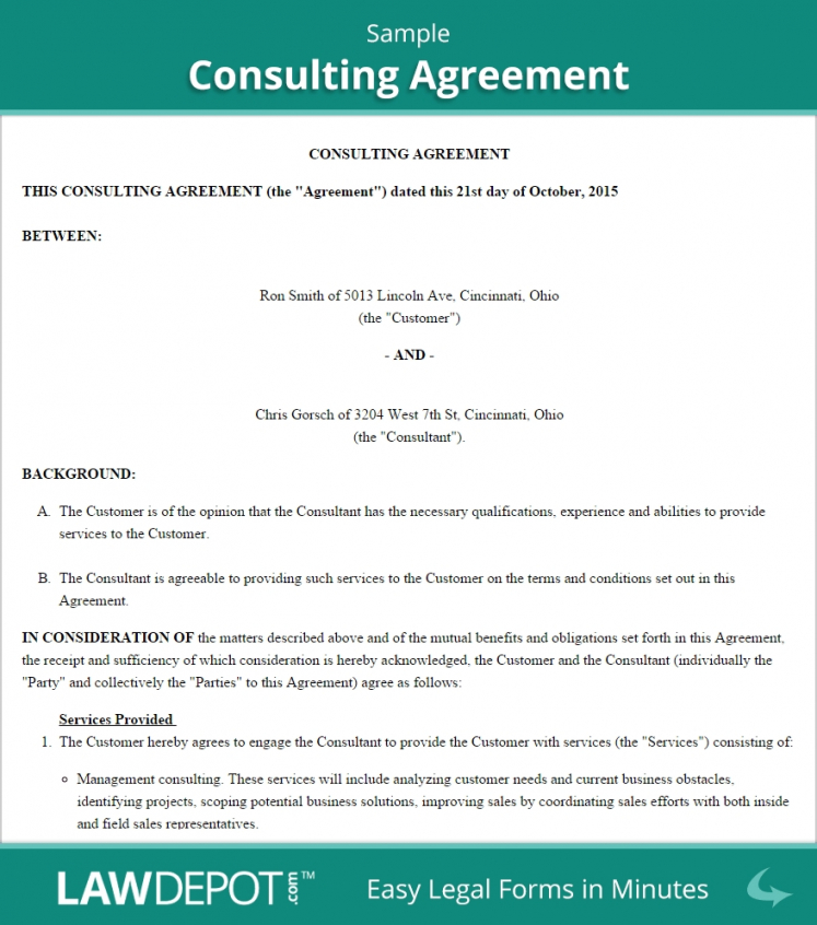 Short Consulting Agreement Template