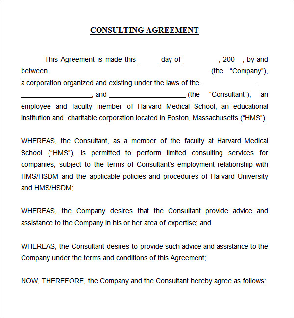 consulting agreement template short sample retainer agreement