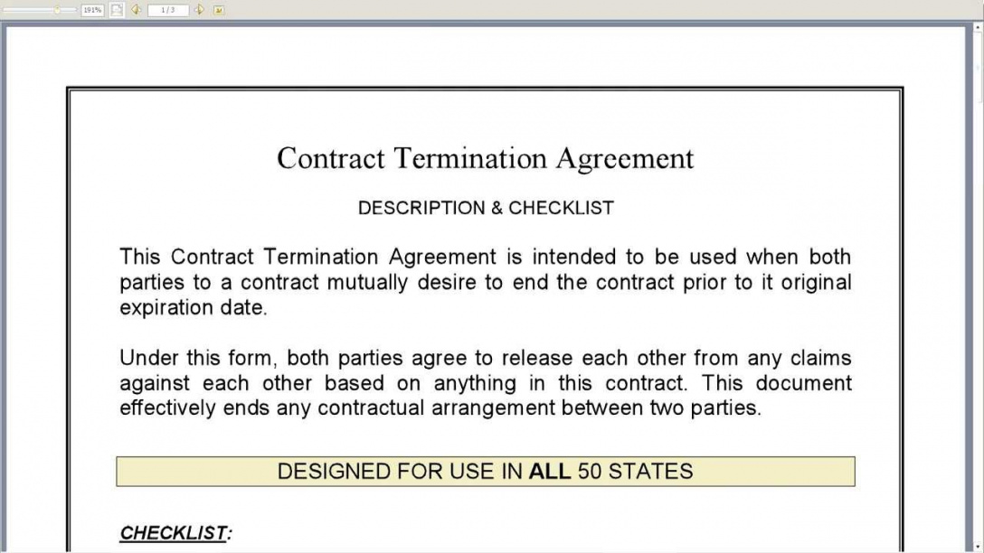 Contract Termination Agreement Gtld World Congress