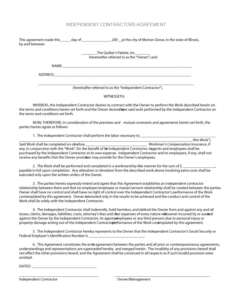 50+ FREE Independent Contractor Agreement Forms & Templates