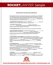 Independent Contractor Form | 1099 Contractor Agreement | Rocket