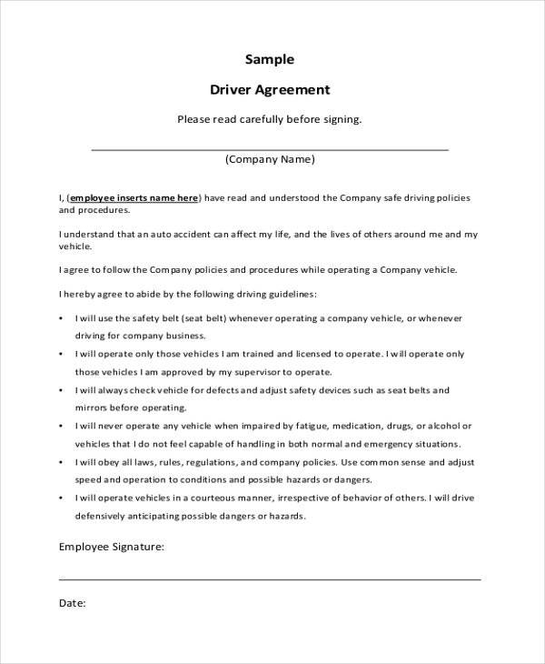 9+ Sample Contractual Agreements | Sample Templates