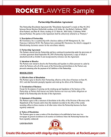 Partnership Dissolution Agreement (Form With Sample)
