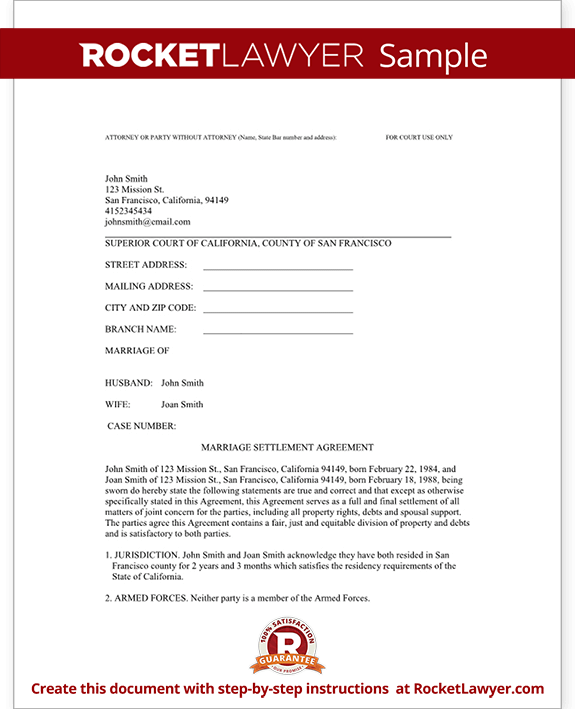 written agreement template 11 divorce agreement templates free
