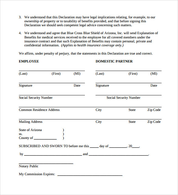 13 Domestic Partnership Agreements to Download | Sample Templates