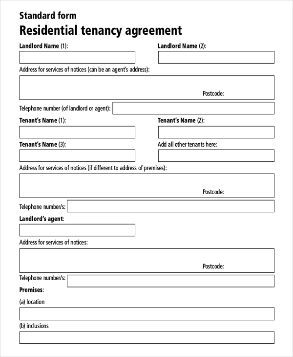Rental Agreement Template Free Download emsec.info