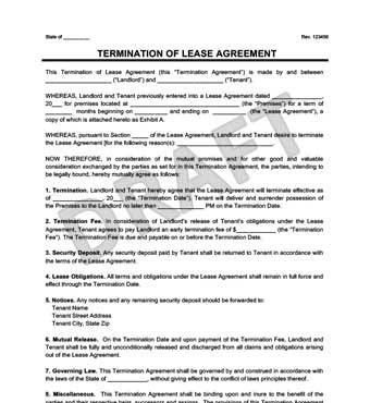 lease termination form pdf Templates Fillable & Printable