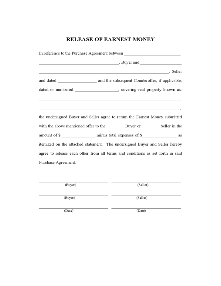 Earnest Money Contract Texas Fill Online, Printable, Fillable