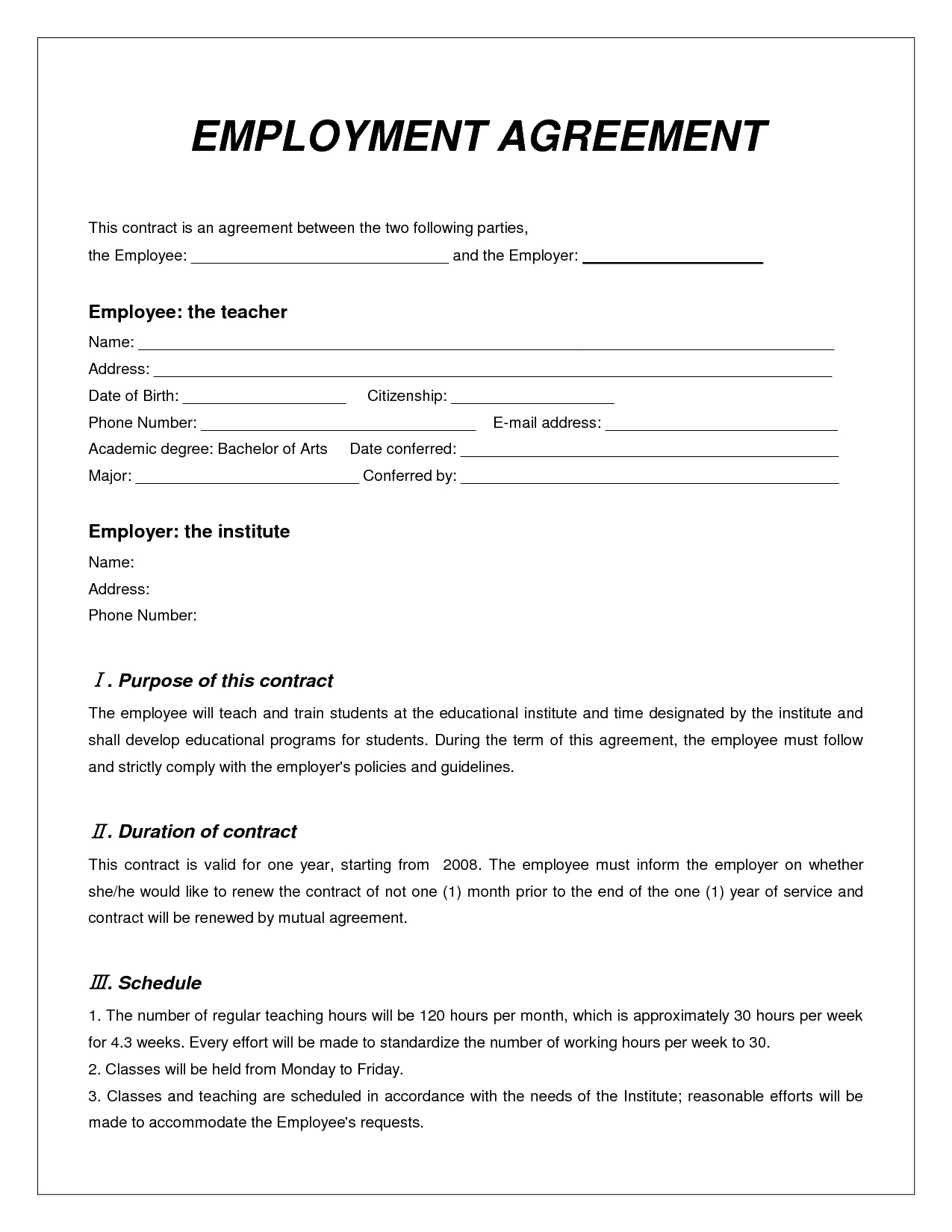 employee agreement form Ecza.solinf.co