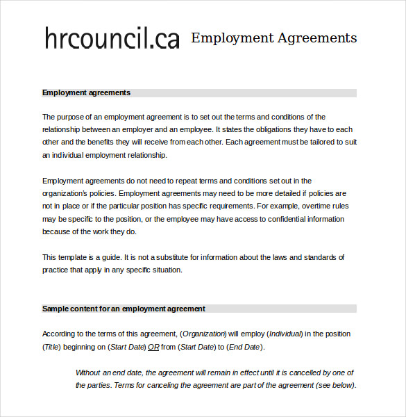 employee contract pdf Acur.lunamedia.co