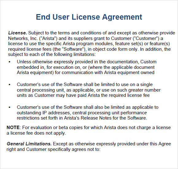 Evaluation License Agreement Template Schreibercrimewatch.org